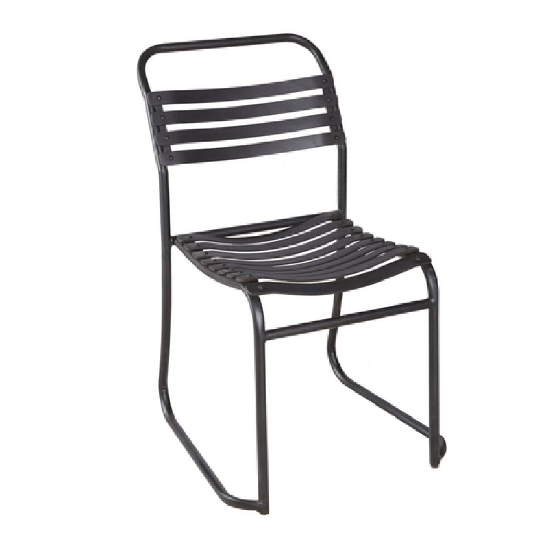 Ref. 927 | Rubber slatted  stacking chair