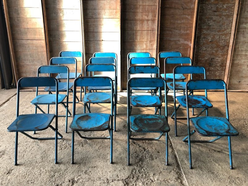 Ref. 890 | Blue terrasse chairs