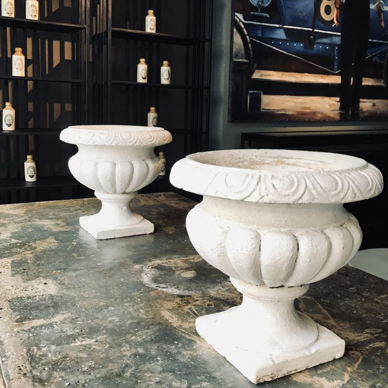 Ref. 2101 | Pair of stone garden pots